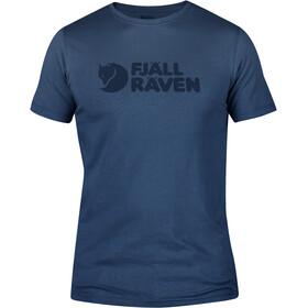 Fjällräven Logo Kortærmet T-shirt Herrer blå